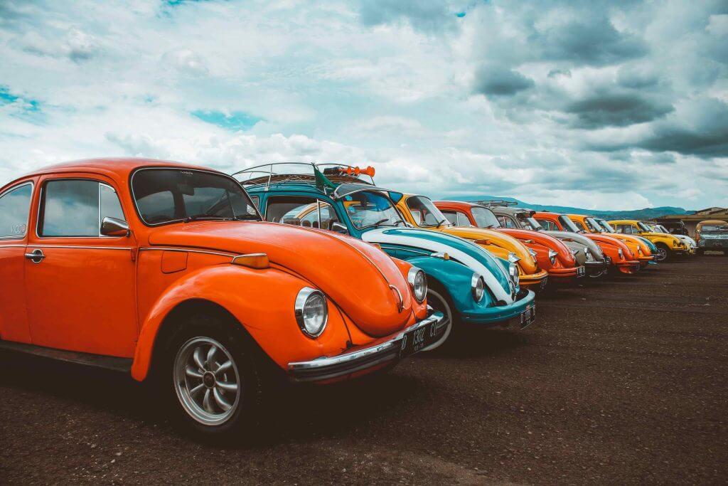 Pomarańczowy używany samochód - Volkswagen garbus